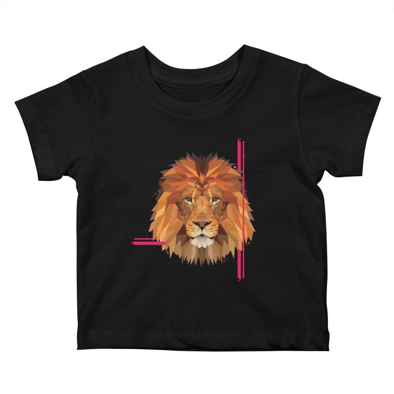 Polygonal space lion Kids Baby T-Shirt by V Design's Artist Shop