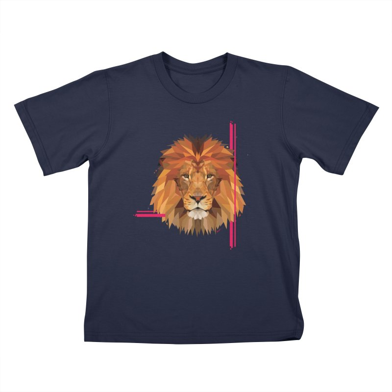 Polygonal space lion Kids T-Shirt by V Design's Artist Shop