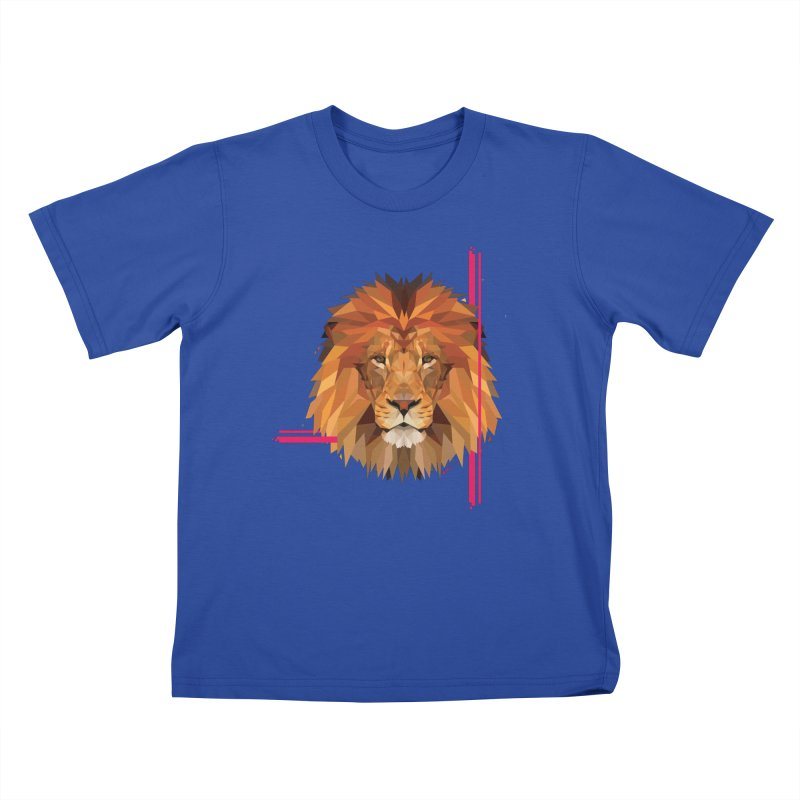 Polygonal space lion Kids T-Shirt by V Design's Artist Shop