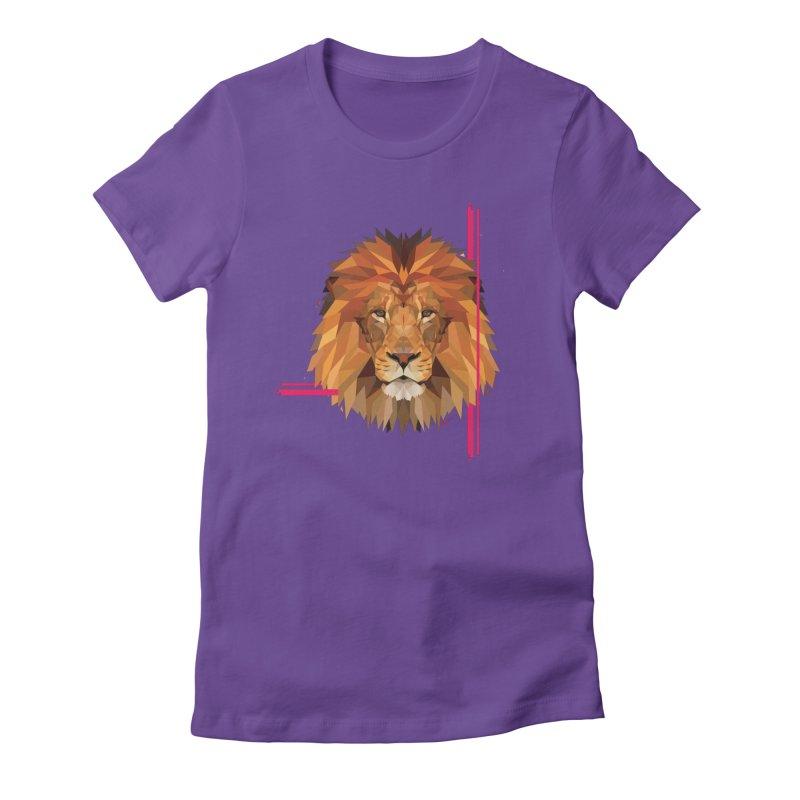 Polygonal space lion Women's T-Shirt by V Design's Artist Shop