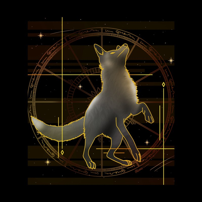 Celestial fox Men's T-Shirt by V Design's Artist Shop