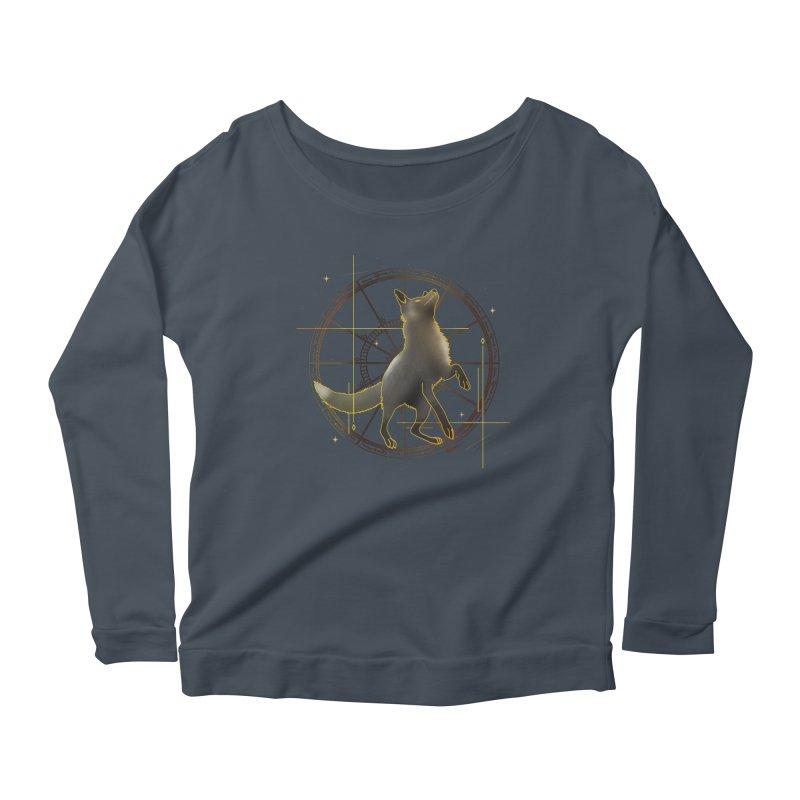 Celestial fox Women's Longsleeve T-Shirt by V Design's Artist Shop