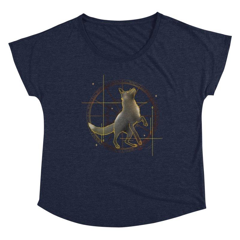 Celestial fox Women's Scoop Neck by V Design's Artist Shop