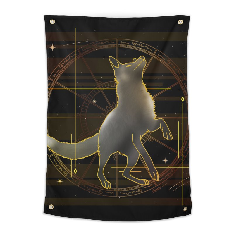 Celestial fox Home Tapestry by V Design's Artist Shop