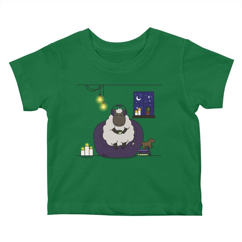 Sleepy sheep Kids Baby T-Shirt by V Design's Artist Shop