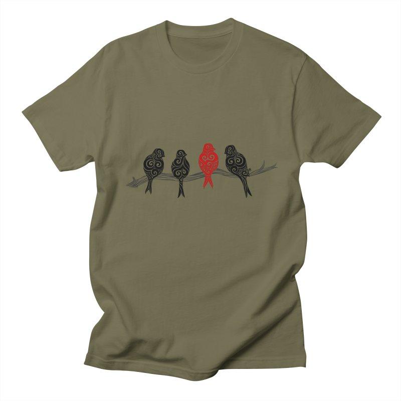 Swirly Individualist Men's T-shirt by VectorInk's Artist Shop