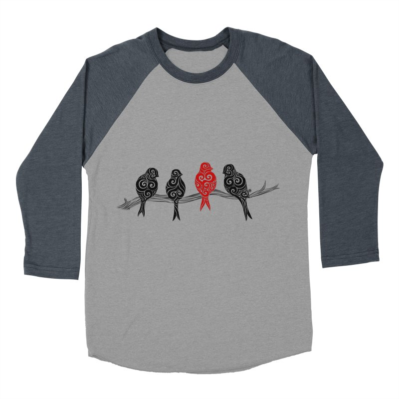 Swirly Individualist Men's Baseball Triblend Longsleeve T-Shirt by VectorInk's Artist Shop