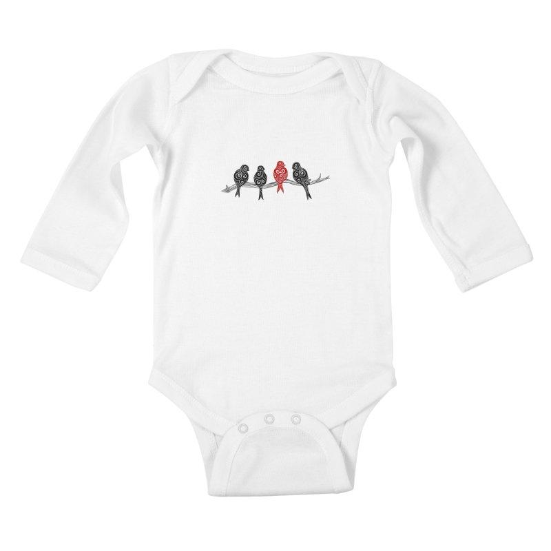 Swirly Individualist Kids Baby Longsleeve Bodysuit by VectorInk's Artist Shop