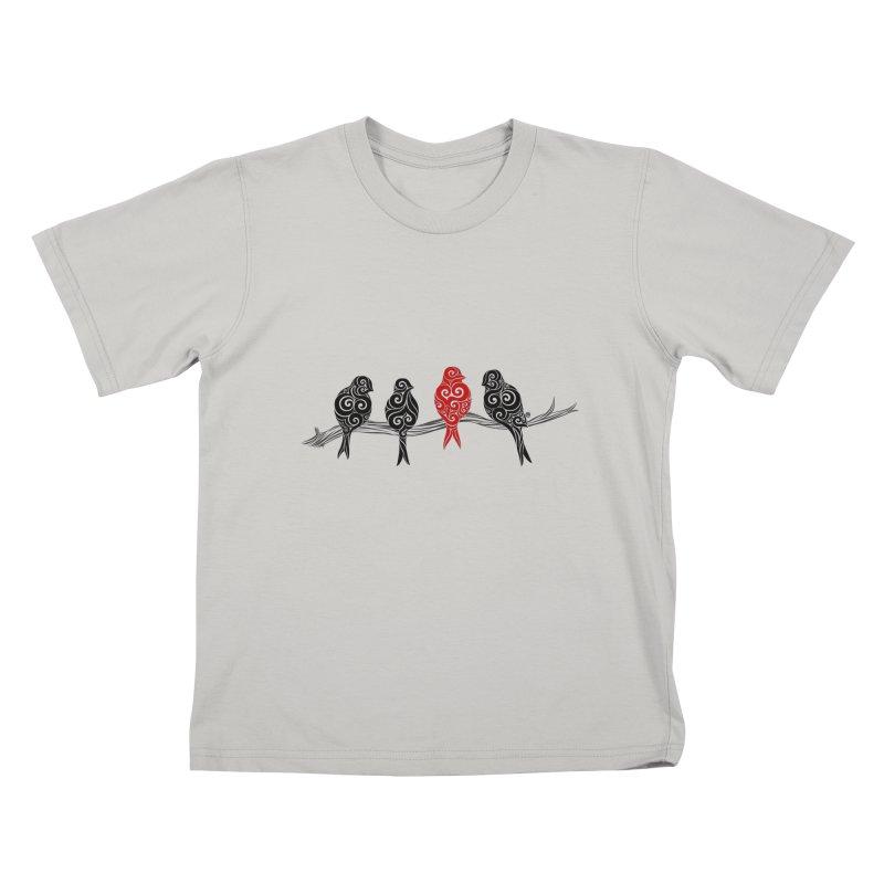 Swirly Individualist Kids T-Shirt by VectorInk's Artist Shop