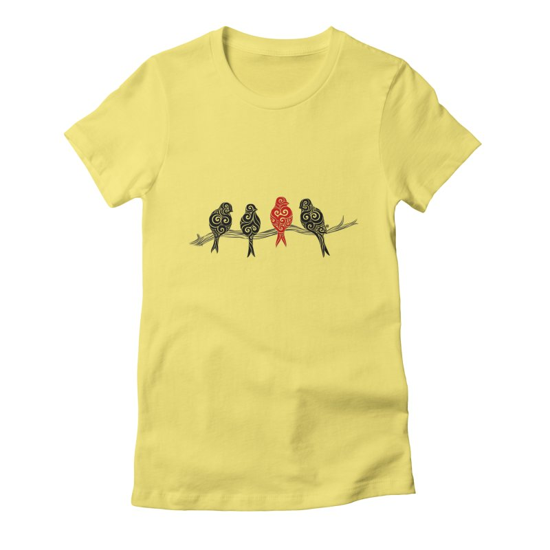 Swirly Individualist Women's Fitted T-Shirt by VectorInk's Artist Shop