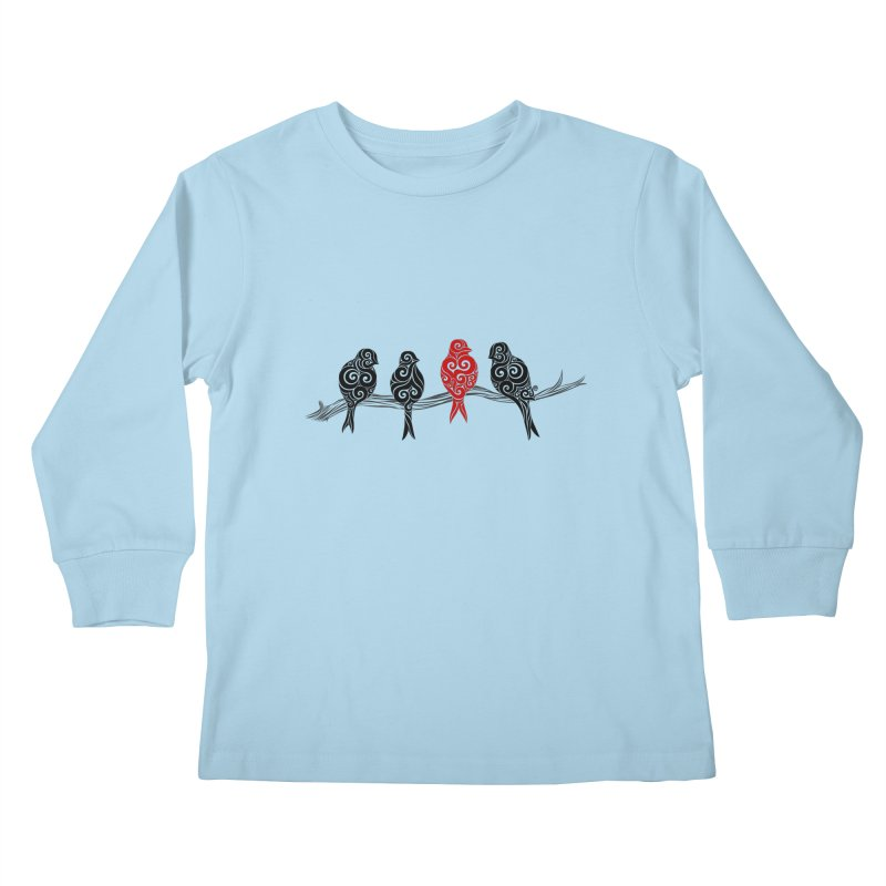 Swirly Individualist Kids Longsleeve T-Shirt by VectorInk's Artist Shop