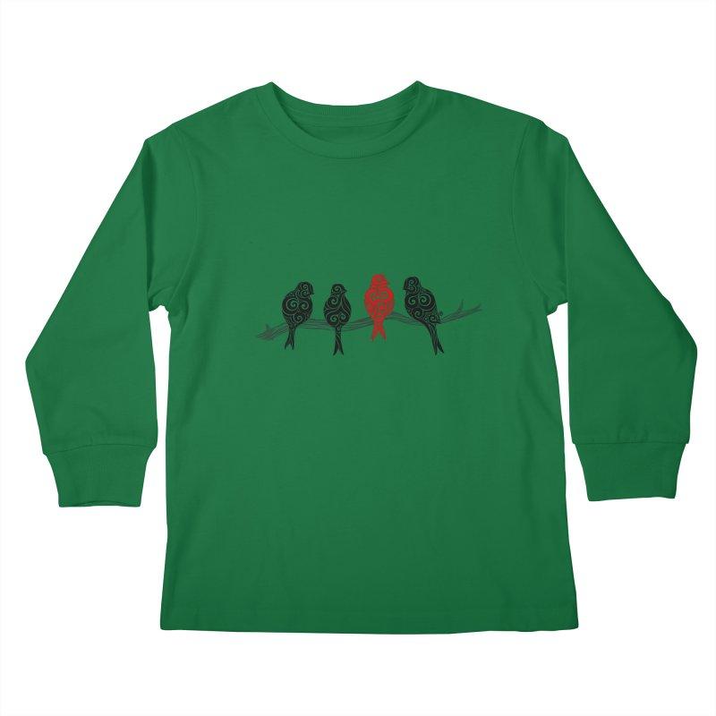 Swirly Individualist Kids Longsleeve T-Shirt by VectorInk's Artist Shop