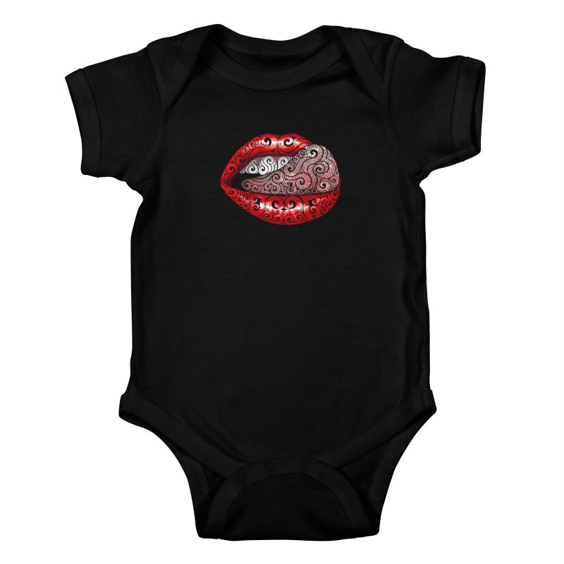 Precious Tongue Kids Baby Bodysuit by VectorInk's Artist Shop