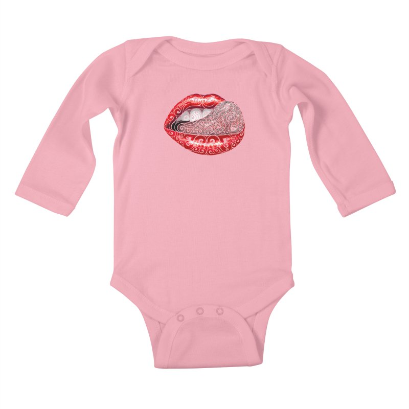 Precious Tongue Kids Baby Longsleeve Bodysuit by VectorInk's Artist Shop