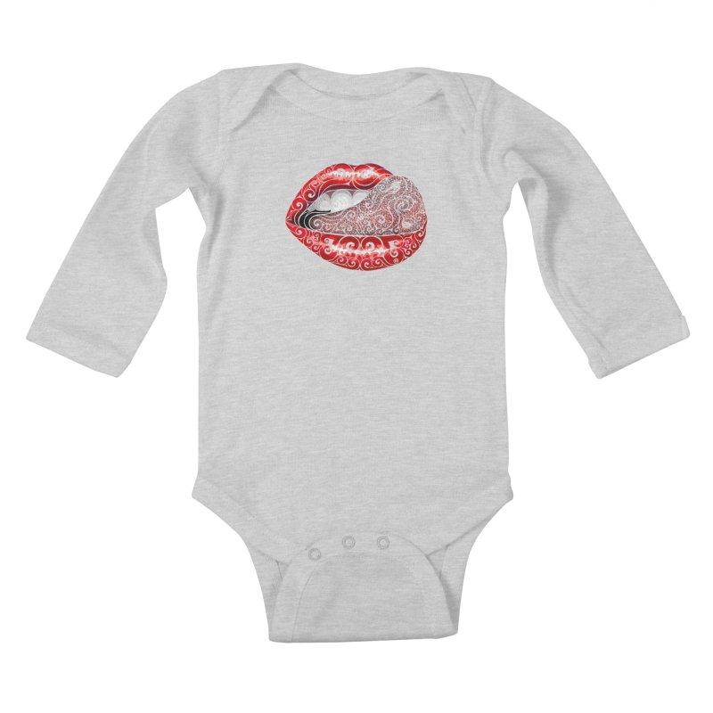 Precious Tongue Kids Baby Longsleeve Bodysuit by VectorInk's Artist Shop
