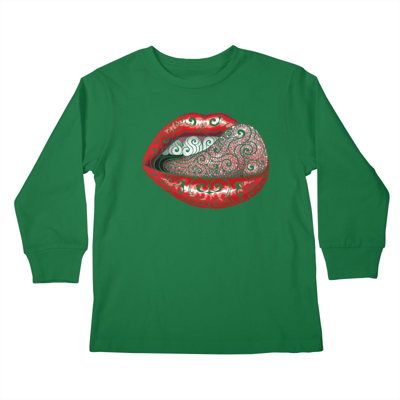 Precious Tongue Kids Longsleeve T-Shirt by VectorInk's Artist Shop