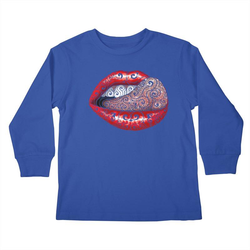 Precious Tongue Kids Longsleeve T-Shirt by VectorInk's Artist Shop