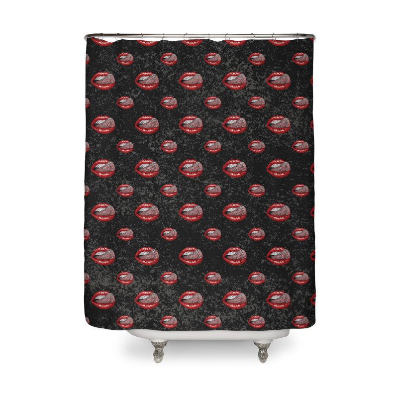 Precious Tongue Home Shower Curtain by VectorInk's Artist Shop