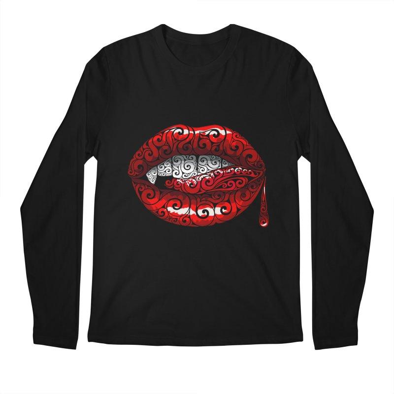 Swirly Fangs Men's Longsleeve T-Shirt by VectorInk's Artist Shop