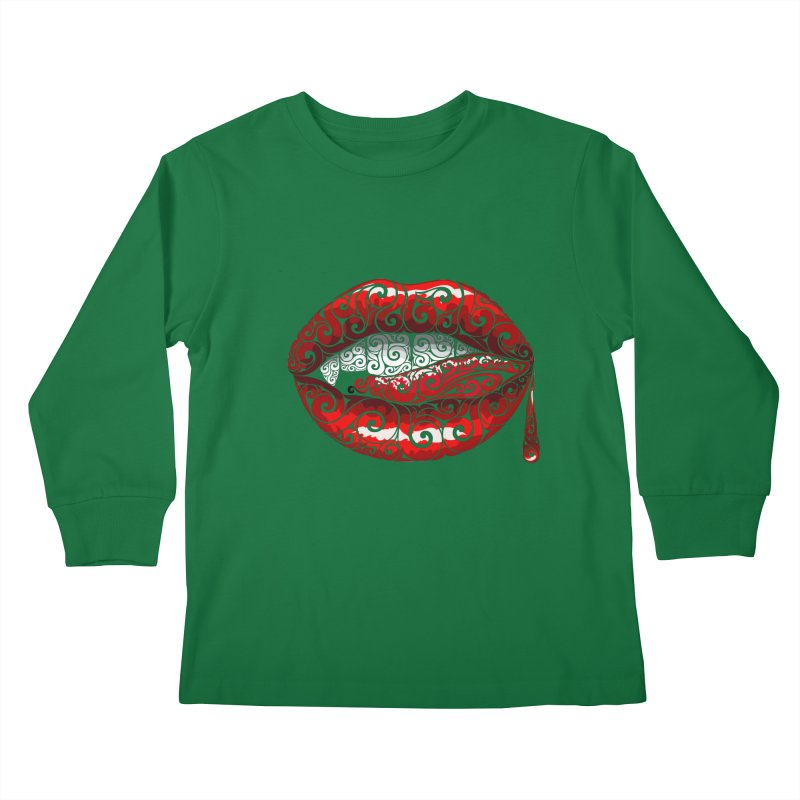 Swirly Fangs Kids Longsleeve T-Shirt by VectorInk's Artist Shop