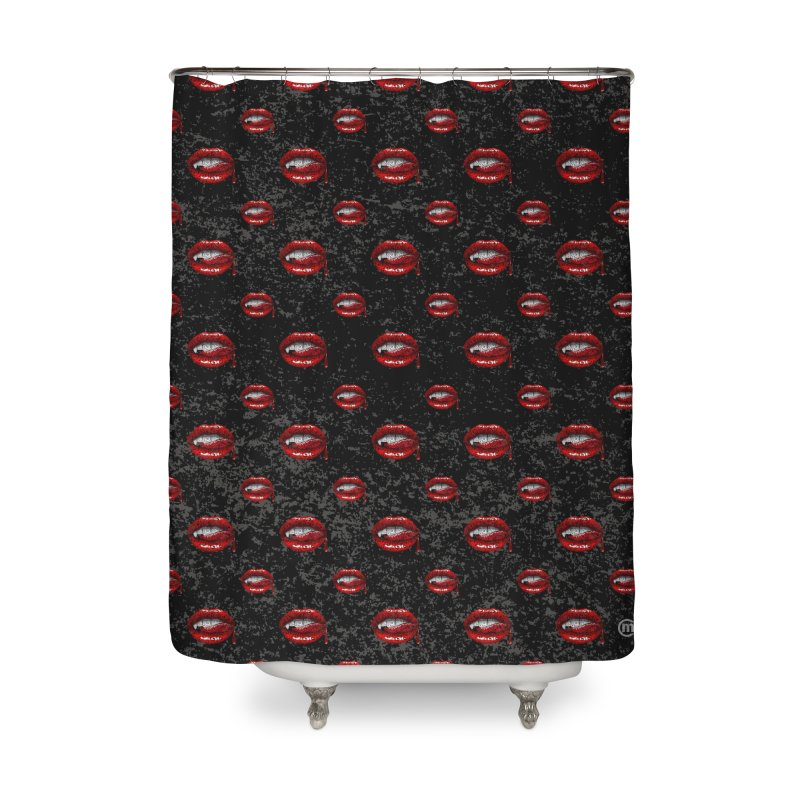 Swirly Fangs Home Shower Curtain by VectorInk's Artist Shop