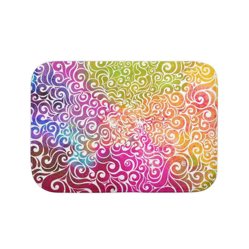 Swirly Portrait Home Bath Mat by VectorInk's Artist Shop