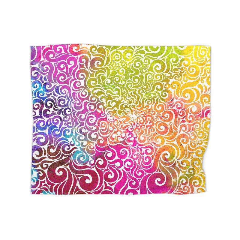 Swirly Portrait Home Blanket by VectorInk's Artist Shop