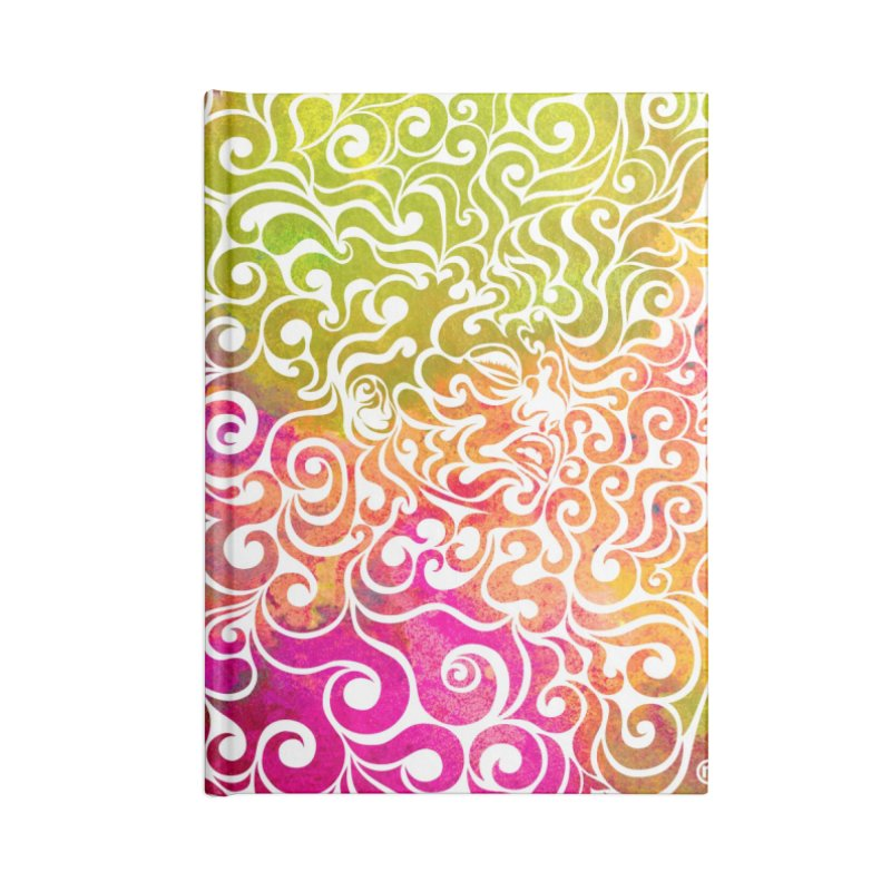 Swirly Portrait Accessories Notebook by VectorInk's Artist Shop