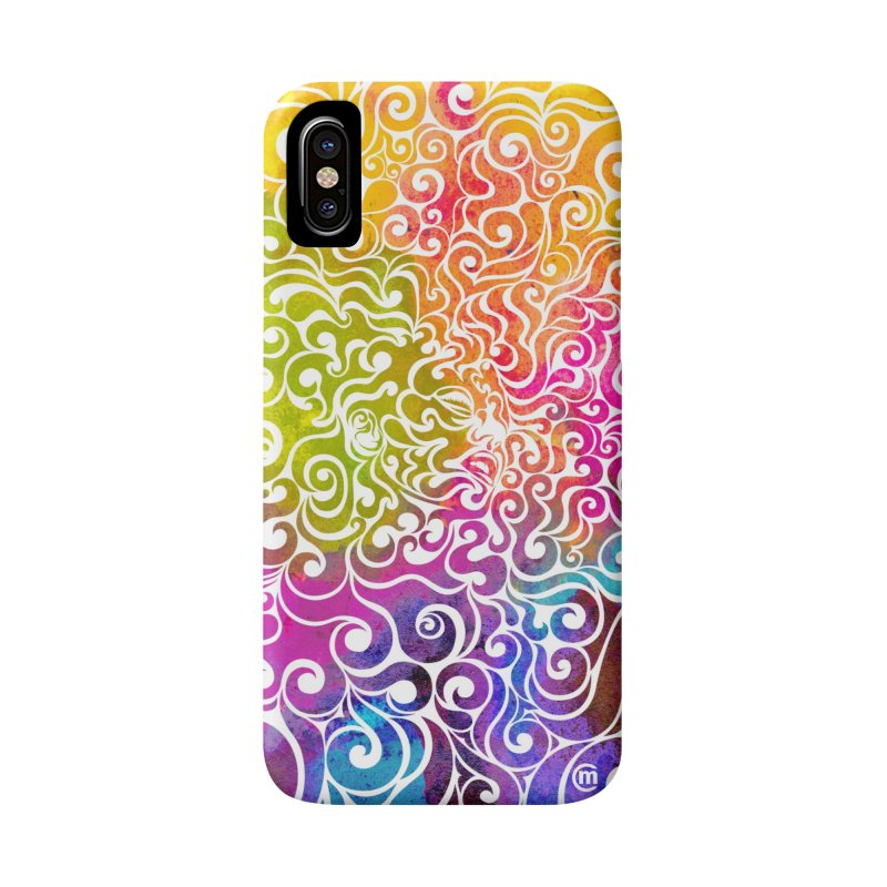 Swirly Portrait Accessories Phone Case by VectorInk's Artist Shop