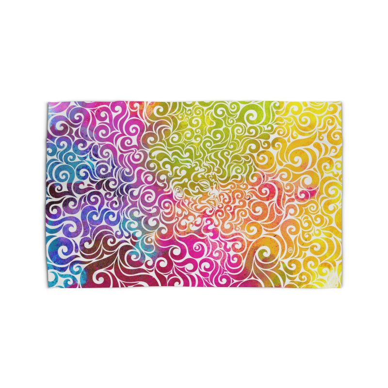 Swirly Portrait Home Rug by VectorInk's Artist Shop