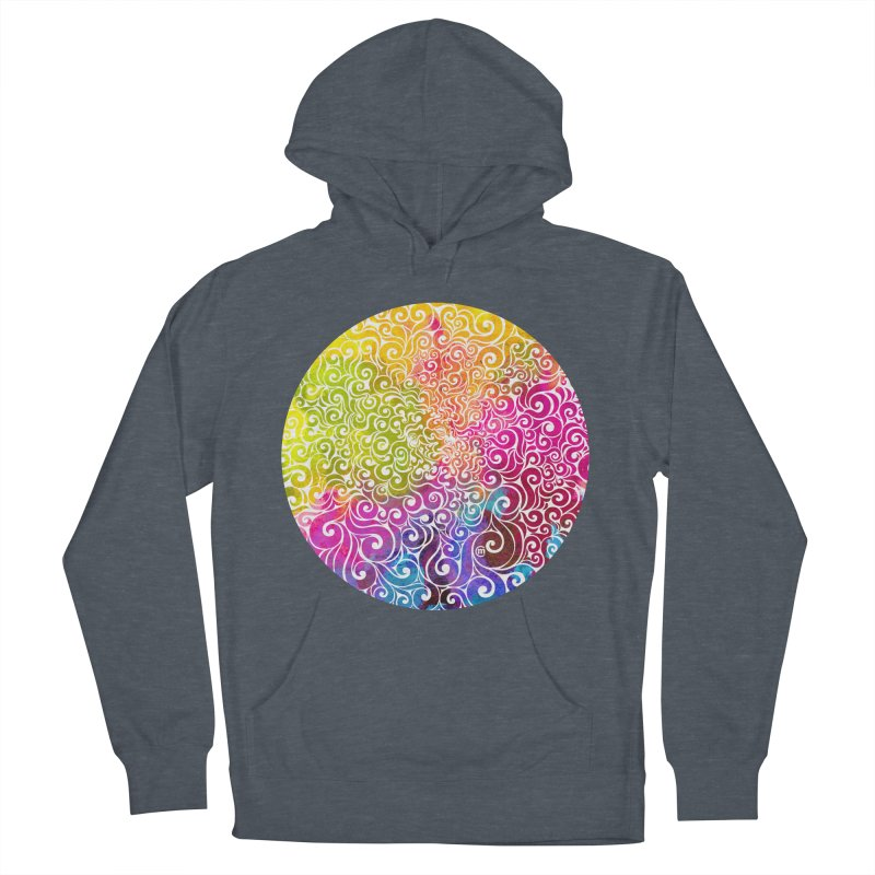 Swirly Portrait Women's Pullover Hoody by VectorInk's Artist Shop