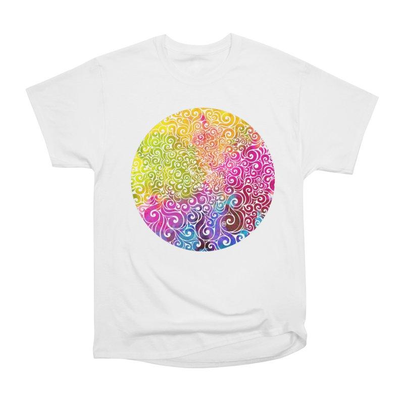 Swirly Portrait Men's Classic T-Shirt by VectorInk's Artist Shop
