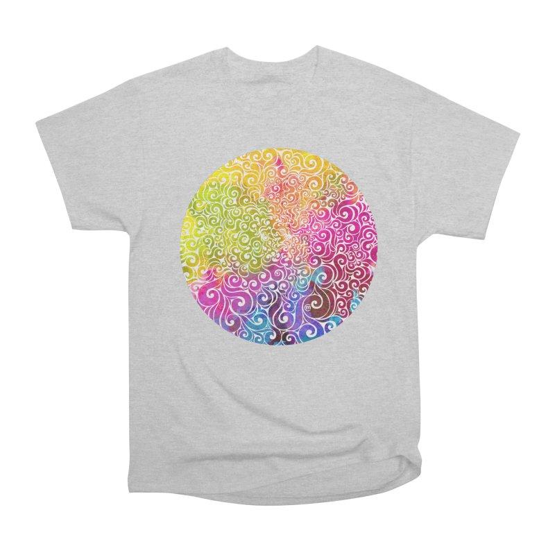 Swirly Portrait Women's Heavyweight Unisex T-Shirt by VectorInk's Artist Shop