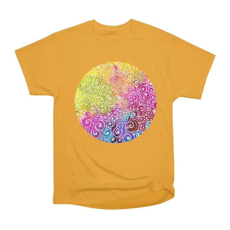 Swirly Portrait Women's Classic Unisex T-Shirt by VectorInk's Artist Shop