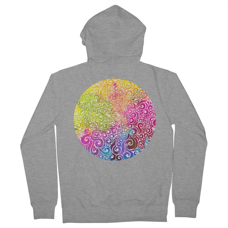 Swirly Portrait Women's Zip-Up Hoody by VectorInk's Artist Shop
