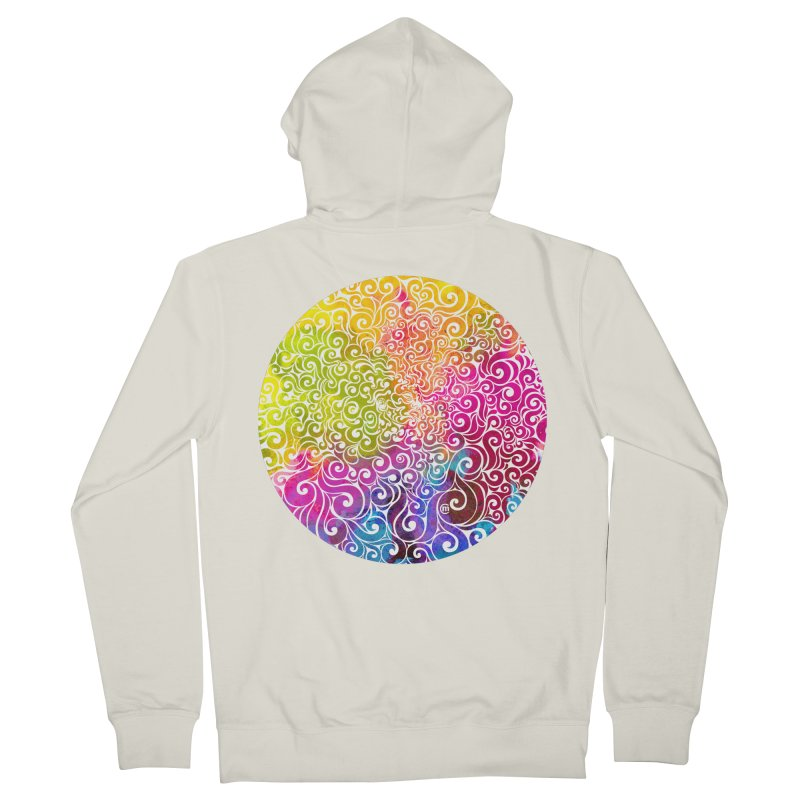 Swirly Portrait Women's French Terry Zip-Up Hoody by VectorInk's Artist Shop