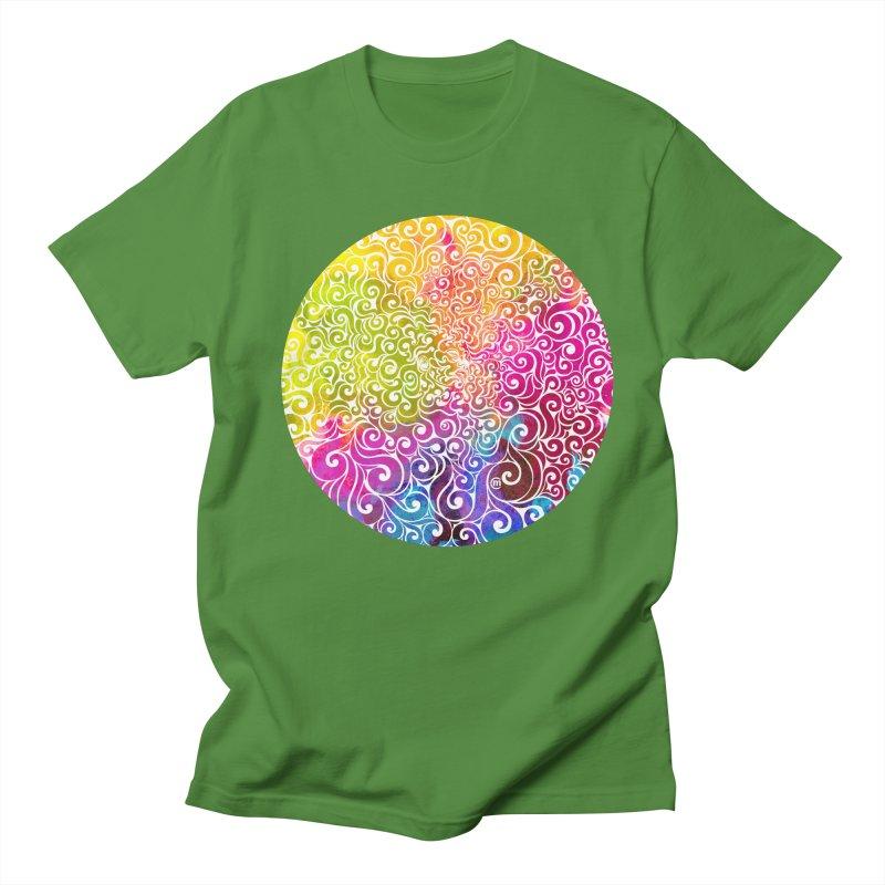 Swirly Portrait Men's T-Shirt by VectorInk's Artist Shop