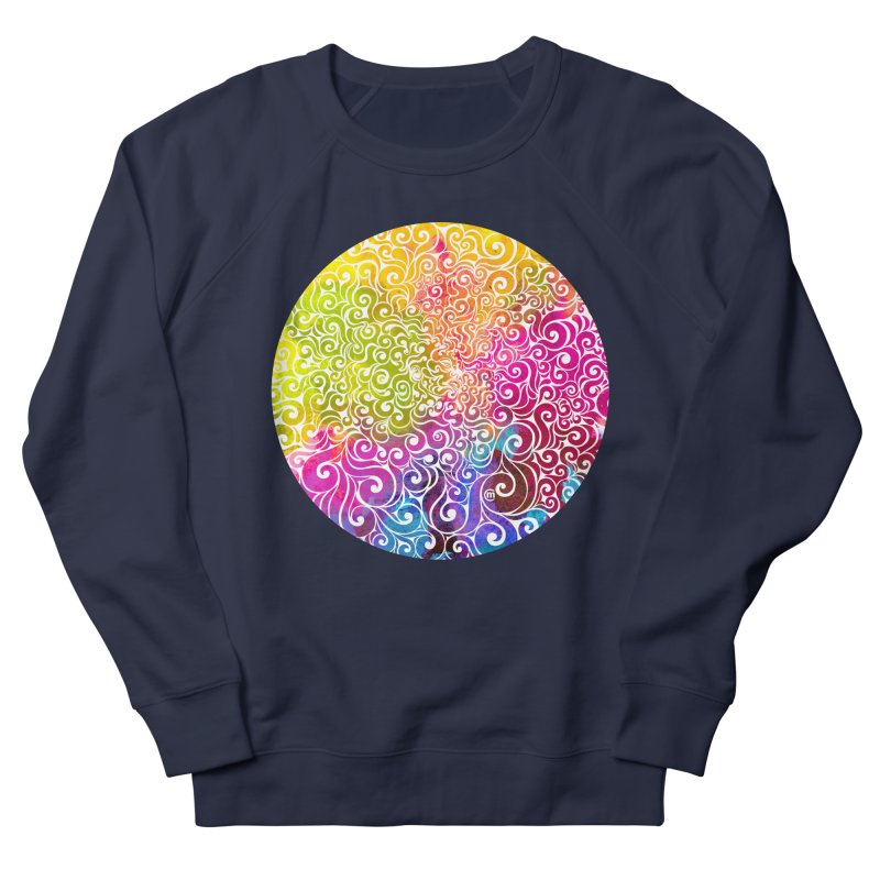 Swirly Portrait Men's French Terry Sweatshirt by VectorInk's Artist Shop