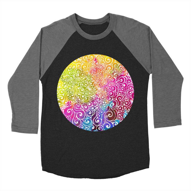 Swirly Portrait Men's Baseball Triblend Longsleeve T-Shirt by VectorInk's Artist Shop
