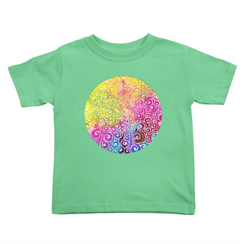 Swirly Portrait Kids Toddler T-Shirt by VectorInk's Artist Shop