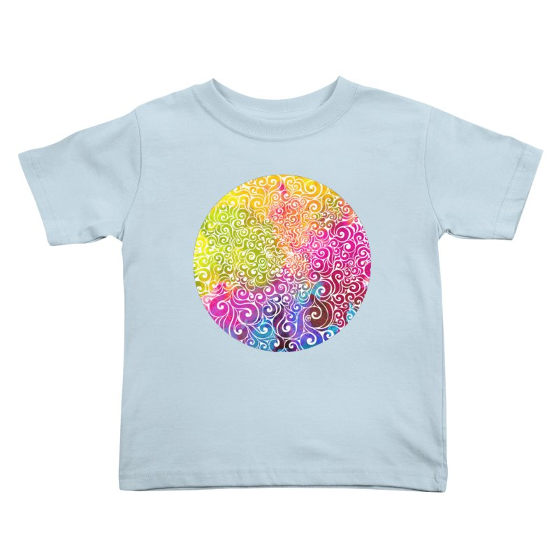 Swirly Portrait Kids Toddler T-Shirt by VectorInk's Artist Shop