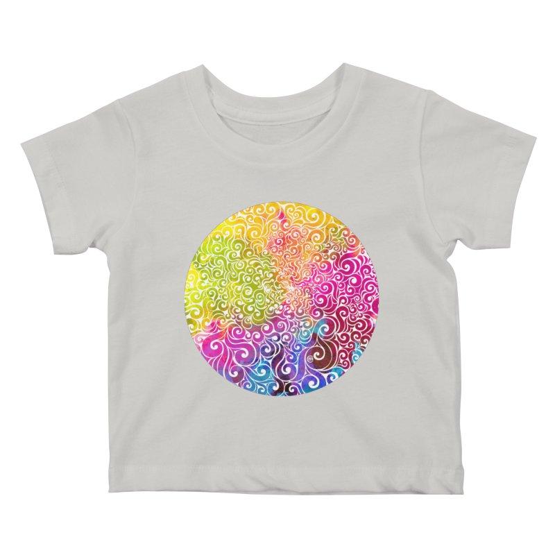 Swirly Portrait Kids Baby T-Shirt by VectorInk's Artist Shop