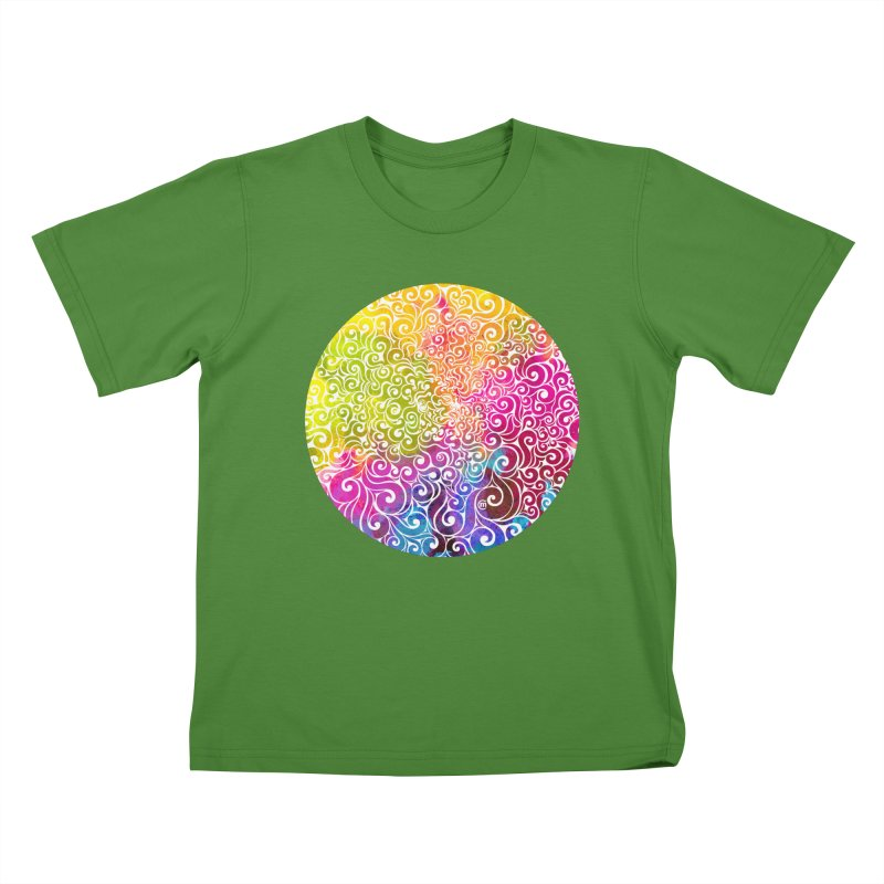 Swirly Portrait Kids T-shirt by VectorInk's Artist Shop