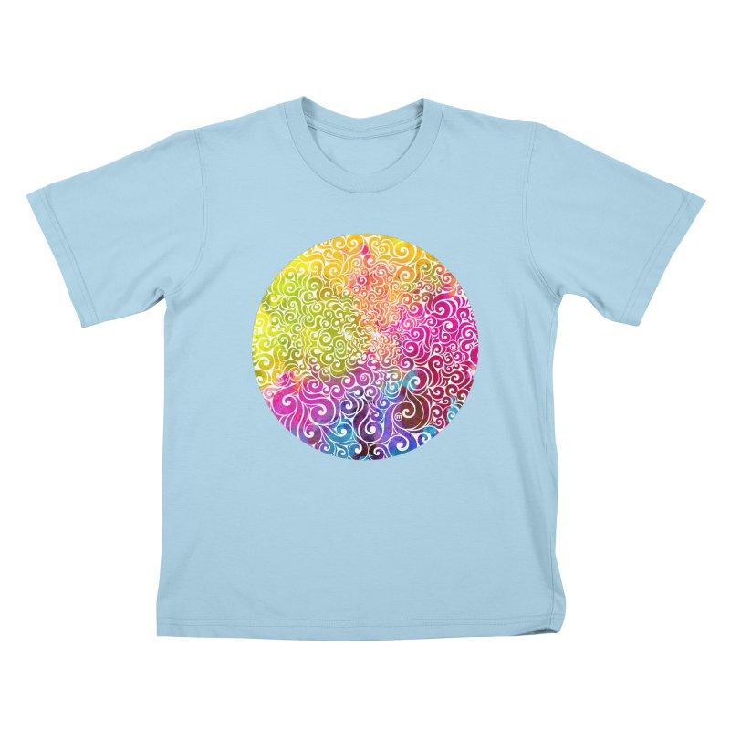 Swirly Portrait Kids T-Shirt by VectorInk's Artist Shop