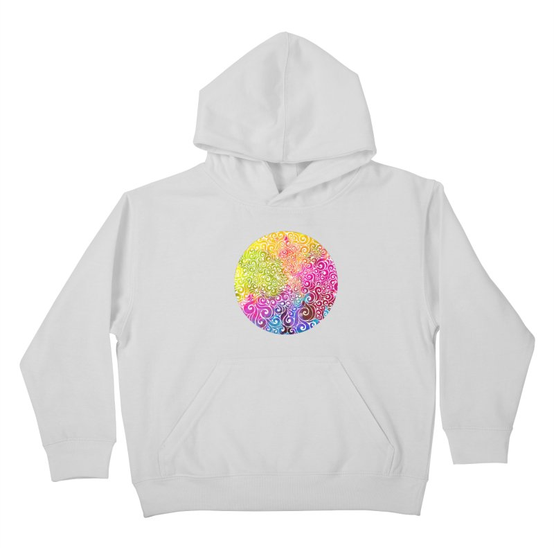 Swirly Portrait Kids Pullover Hoody by VectorInk's Artist Shop