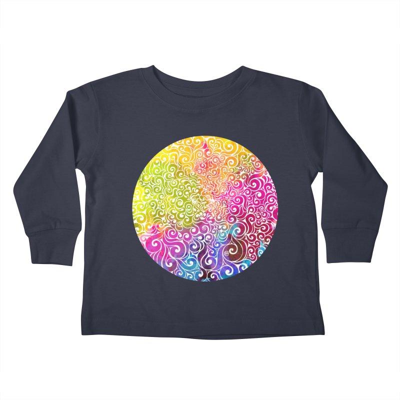 Swirly Portrait Kids Toddler Longsleeve T-Shirt by VectorInk's Artist Shop