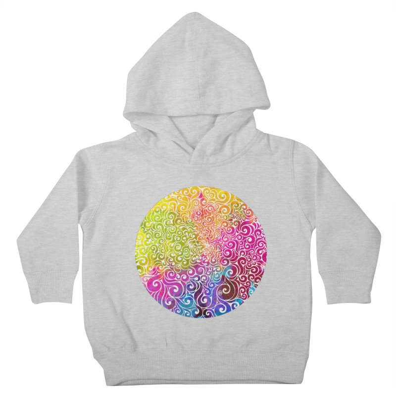 Swirly Portrait Kids Toddler Pullover Hoody by VectorInk's Artist Shop