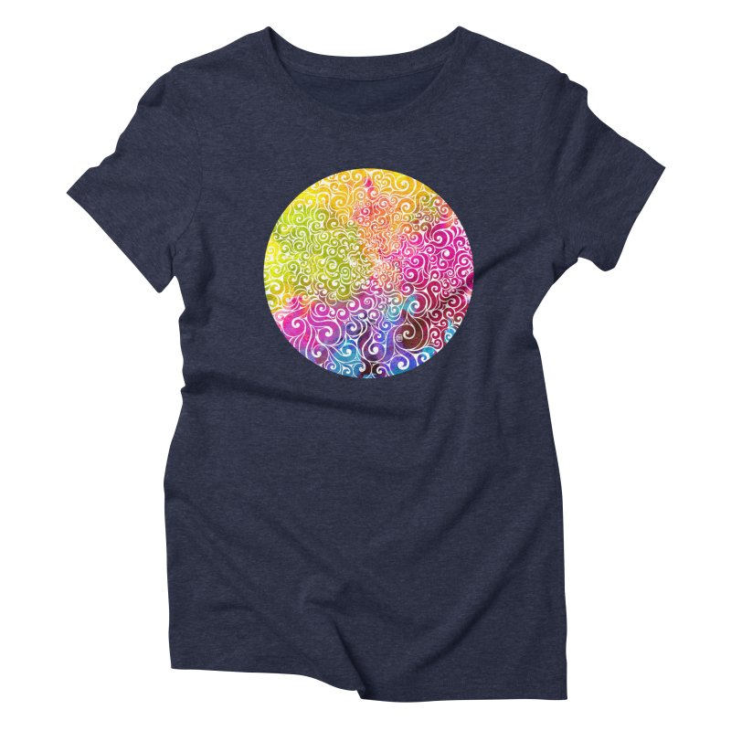 Swirly Portrait Women's Triblend T-Shirt by VectorInk's Artist Shop