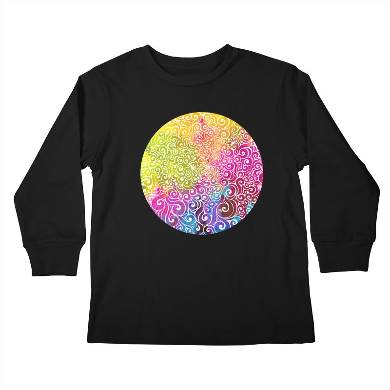 Swirly Portrait Kids Longsleeve T-Shirt by VectorInk's Artist Shop