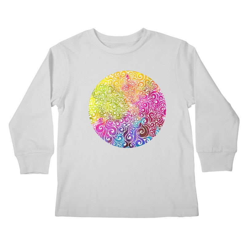 Swirly Portrait Kids Longsleeve T-Shirt by VectorInk's Artist Shop